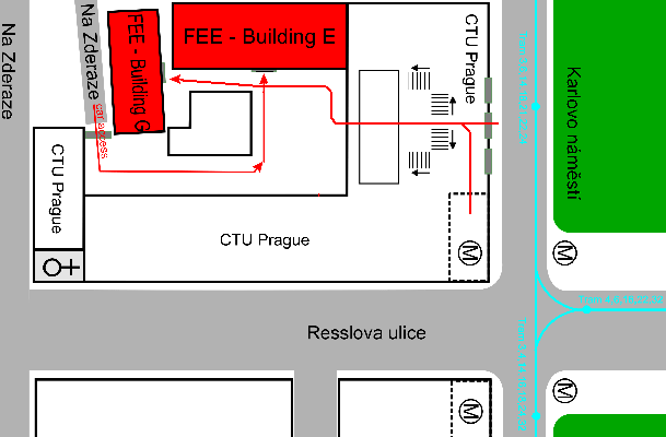 Situation map of Charles Square Campus