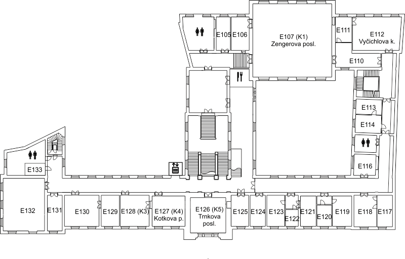 Plan of the 1st floor of building E