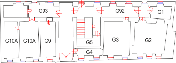 Ground floor of building G