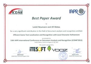 ICDAR2015_BestPaperAward