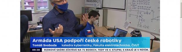 (Česky) Česká televize i Český rozhlas informovaly o úspěchu našich robotiků a získání subvence v DARPA Grantu