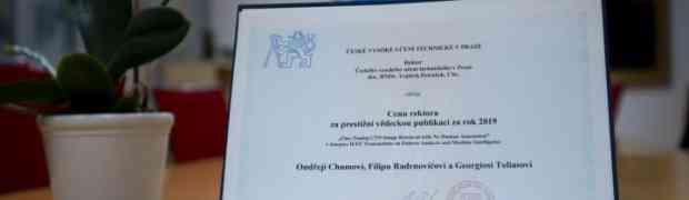 Filip Radenović, Giorgos Tolias a Ondřej Chum obdrželi Cenu rektora ČVUT 2019 za vynikající výsledky ve výzkumu