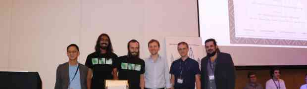 BMVC 2017 best science paper honourable mention for A. Mukundan, G. Tolias, O. Chum