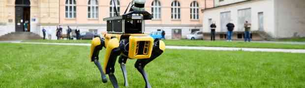 Robot SPOT, doc. Zimmermann a Ing. Rouček se objevili ve Zprávičkách České televize
