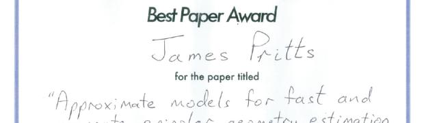 James Pritts získal ocenění